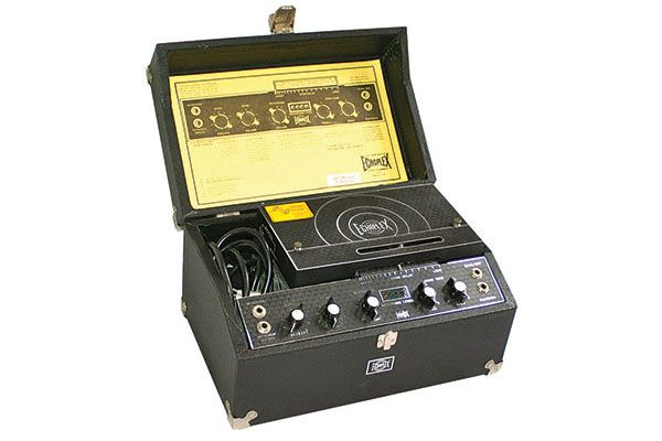 1961 Maestro Echoplex: This tape-loop delay featured a moveable playback head to adjust delay length. U.K. users included Jimmy Page, Brian May and Gary Moore. The Echoplex is the Sixties gold standard for tape delays, and players like Jimmy Page and Eddie Van Halen used it just for its sweet preamp tone. Dunlop's EP101 is based on the Echoplex preamp.