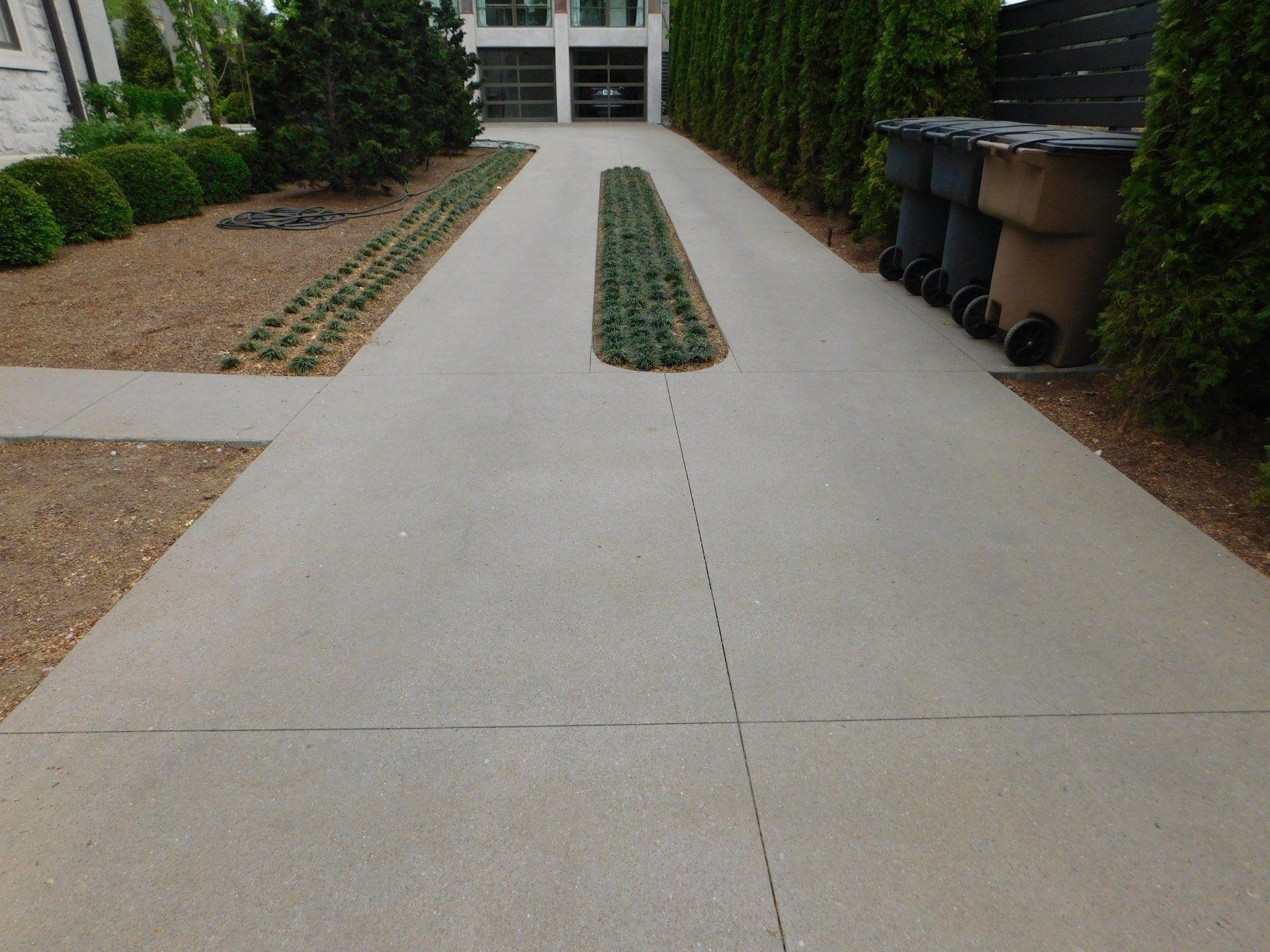 15 Top Cast Finish Concrete Driveway Color Pewter Greystone Modern Driveway Decor Driveway Landscaping Decorative Concrete Driveways Concrete Driveways