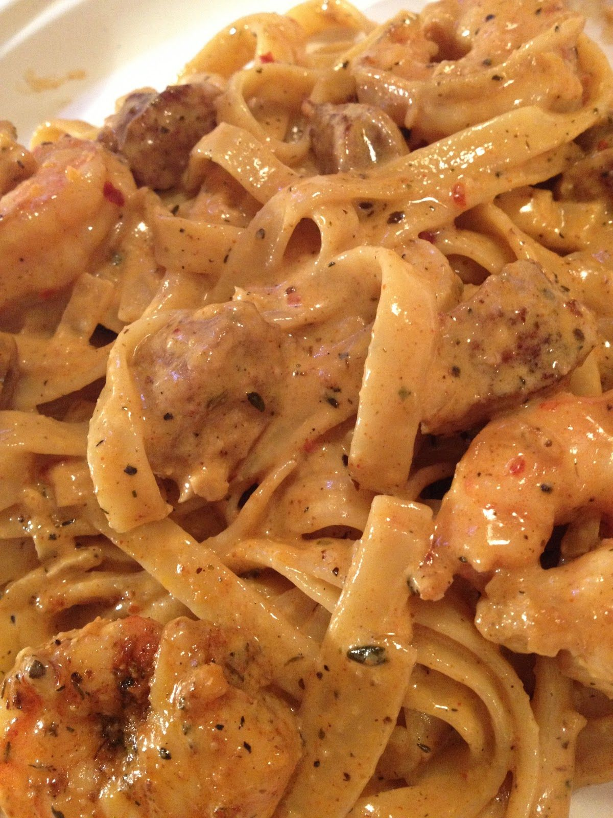COOK\'n WITH THE JEEP GUY: CAJUN SHRIMP AND SAUSAGE FETTUCCINE ...