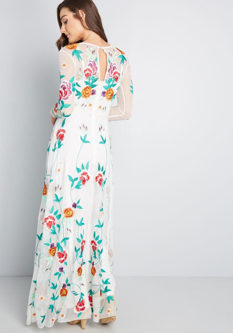 f7d8fc9806b1 Growing Adoration Embroidered Maxi Dress Your love will always continue to  blossom, but this beautiful