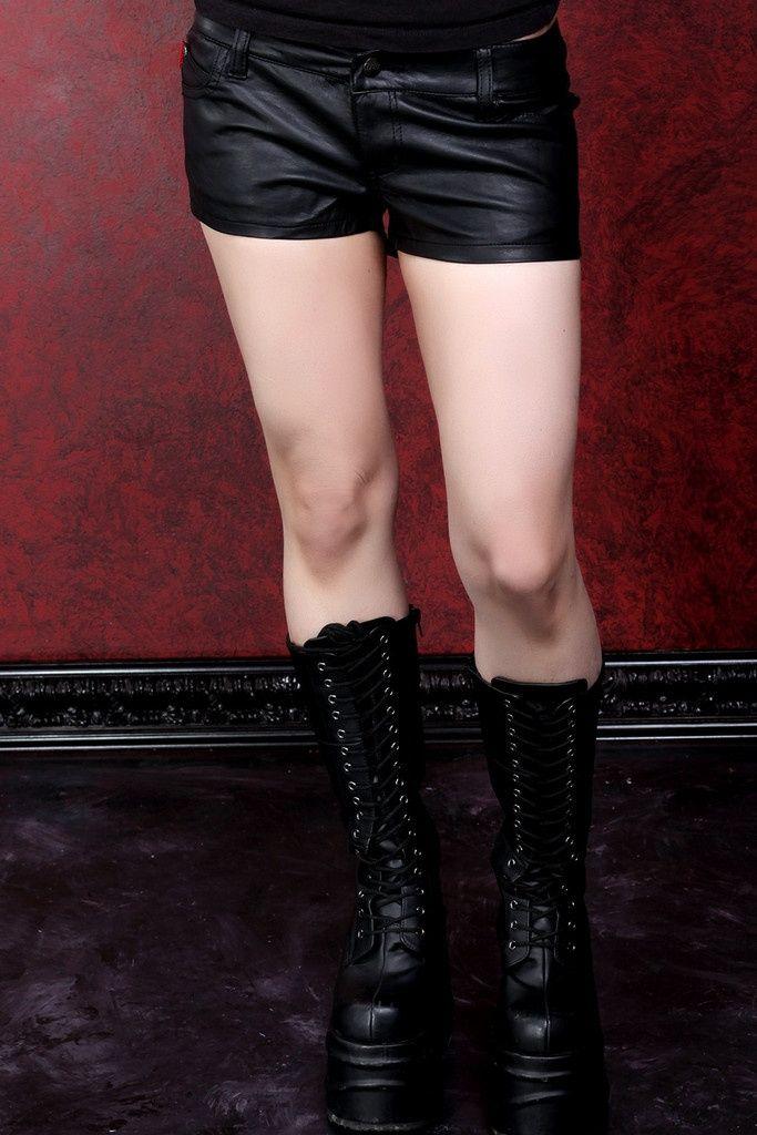 Tripp Pleather Ladies Shorts :: VampireFreaks Store :: Gothic Clothing, Cyber-goth, punk, metal, alternative, rave, freak fashions