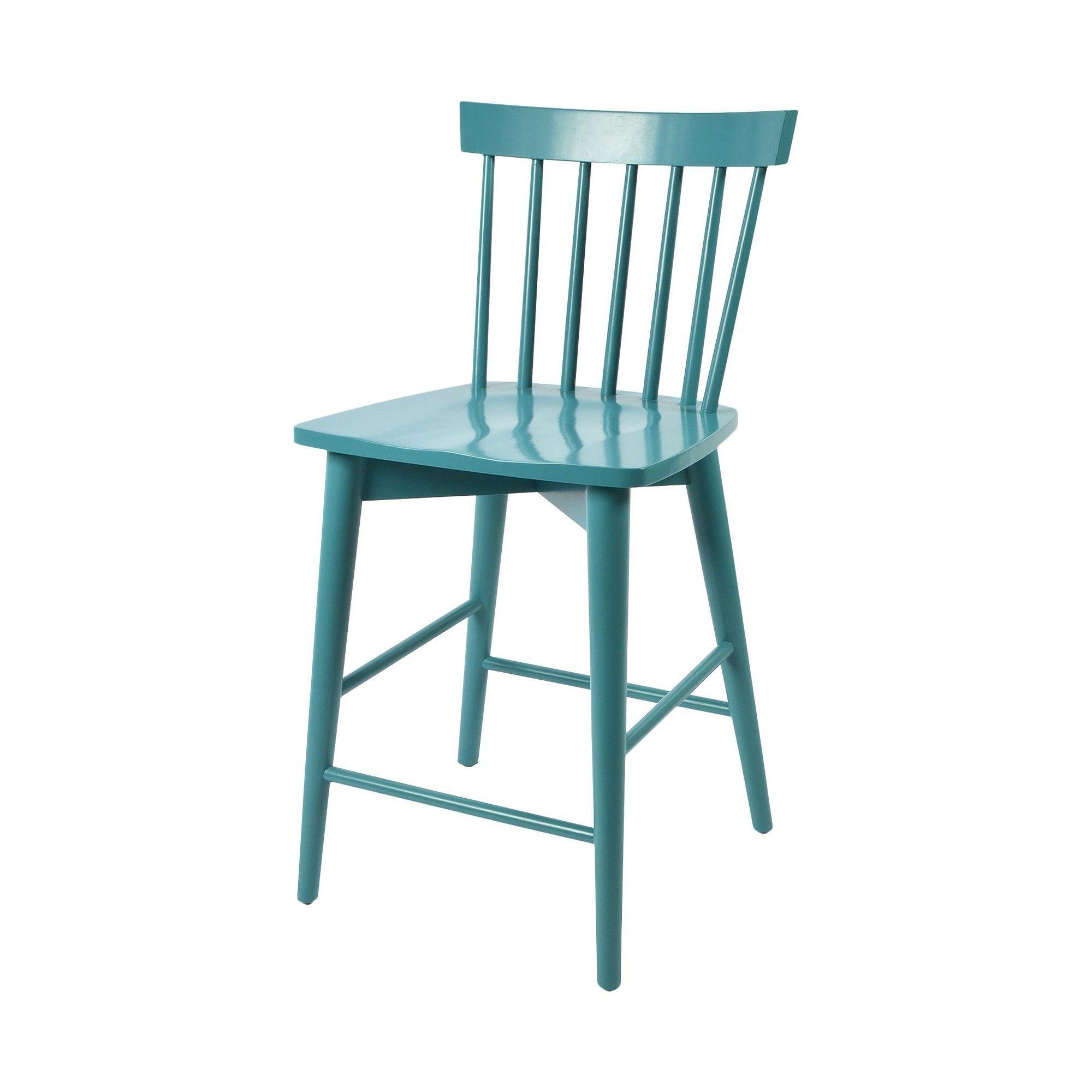 Windsor 24 Counter Stool Hardwood - Threshold, Blue | Pinterest ...