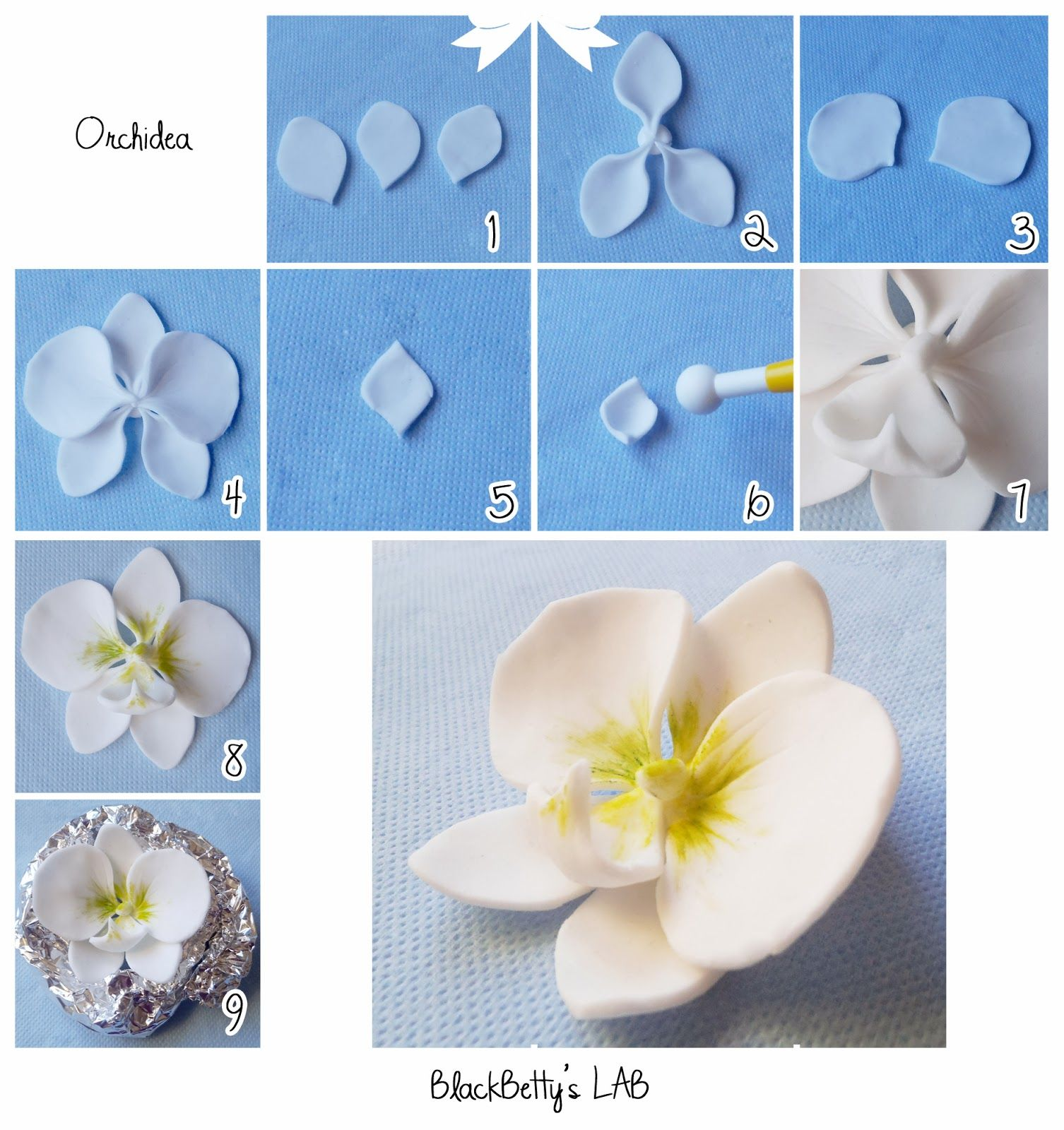 Orchid made of mastic. Master Class