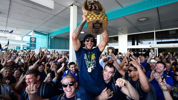 King Of North Queensland Johnathan Thurston Bringing The Premiership Back To Townsville Johnathan Thurston Rugby League Nrl