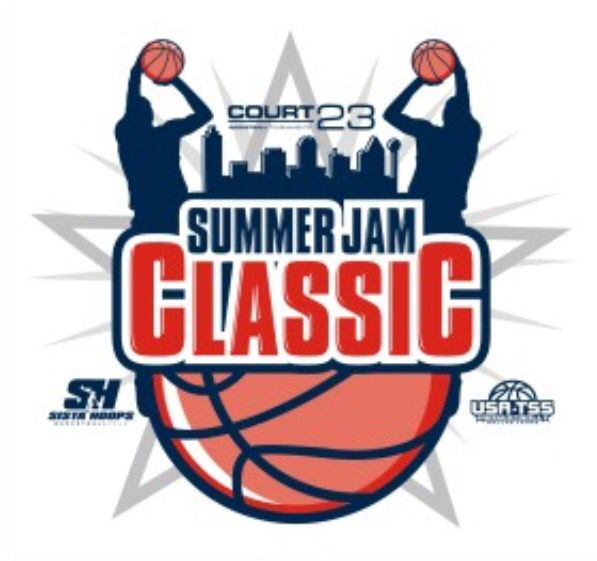 Court 23 Sista Hoops Dallas Summer Jam Classic Logo Court 23 Tournaments Elite Youth Basketball Tourname Basketball Logo Basketball Basketball Tournament