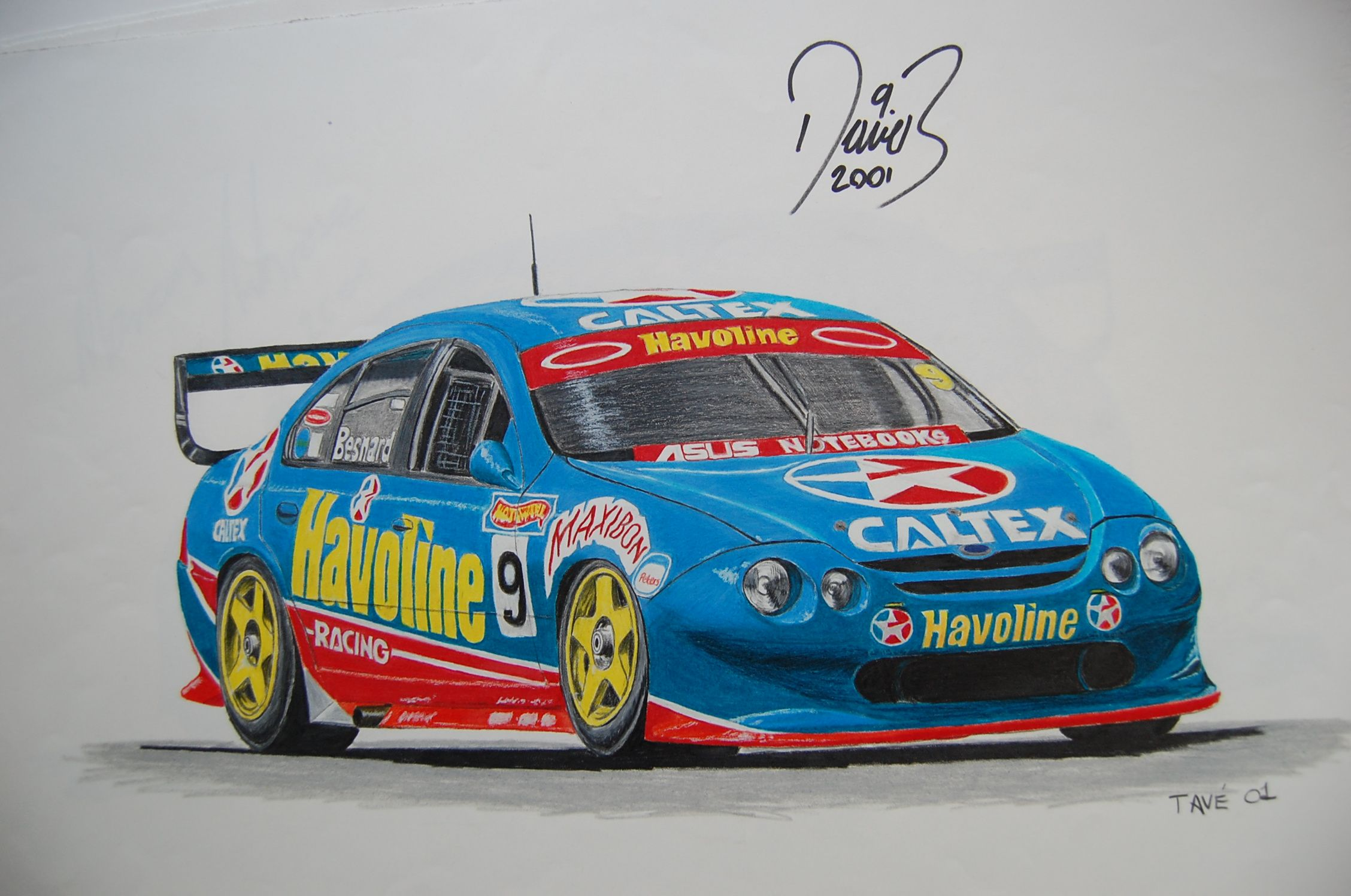 David Besnard Au Falcon Australian Cars Ford Racing Super Cars