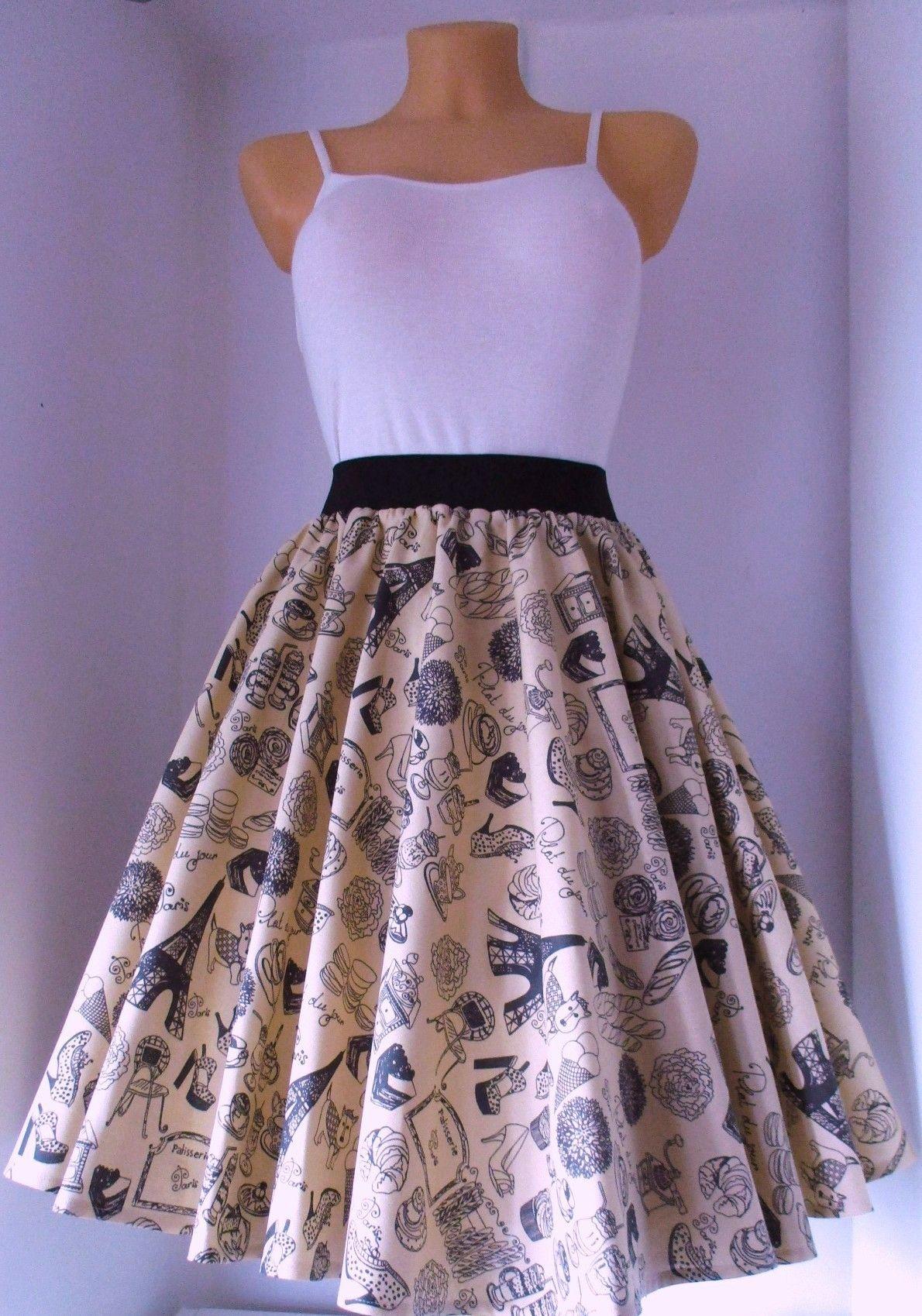 f9ce498b7aa7 Sukně+kolo+Paříš+ Kolová+sukně+z+kvalitní+pevné+100%+bavlny.+Barva ...