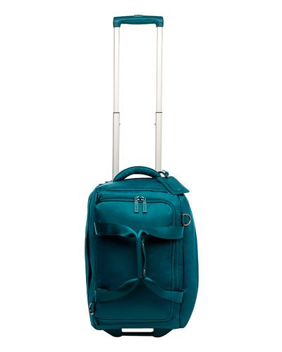 "Lipault ""Soft Luggage"" 20in Wheeled Duffel in Aqua fabric"