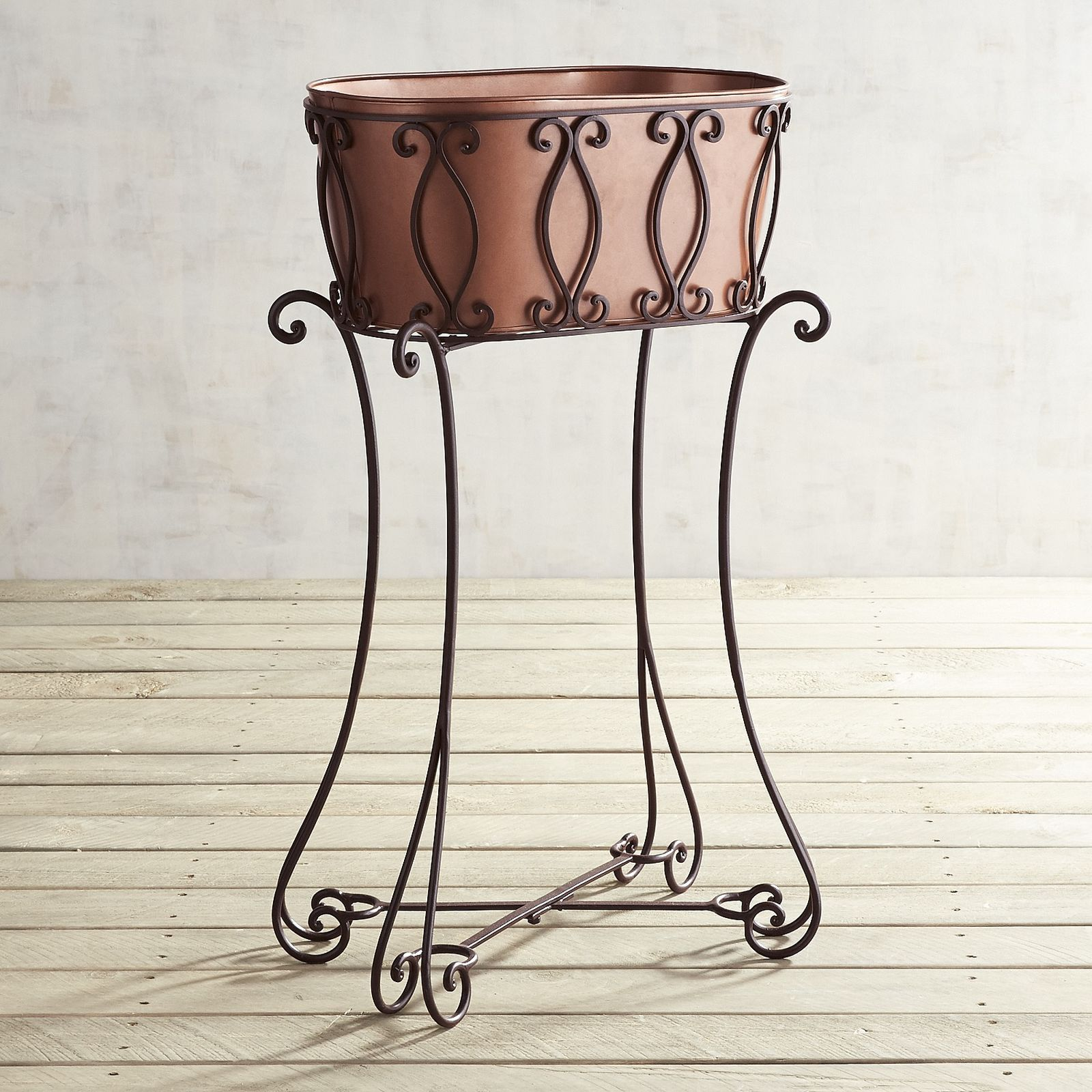 Copper Oval Plant Stand Pier 1