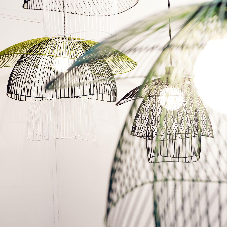 suspension fil de fer noir 100cm papillon forestier fil de fer et suspension. Black Bedroom Furniture Sets. Home Design Ideas