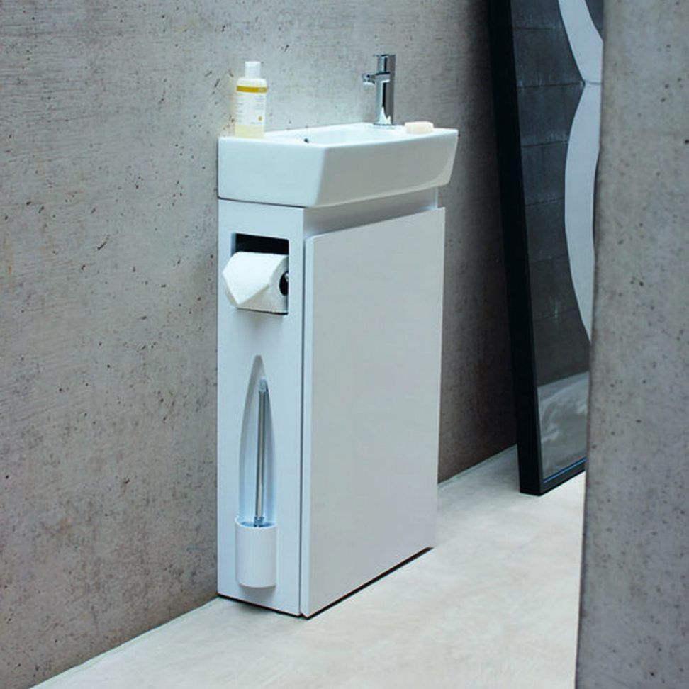 A Vanity Unit For A Modern And Well Equipped Bathroom Cloakroom