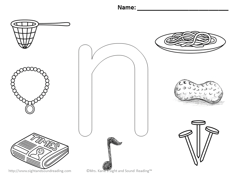 3 Letter N Coloring Pages Easy Download! Letter n
