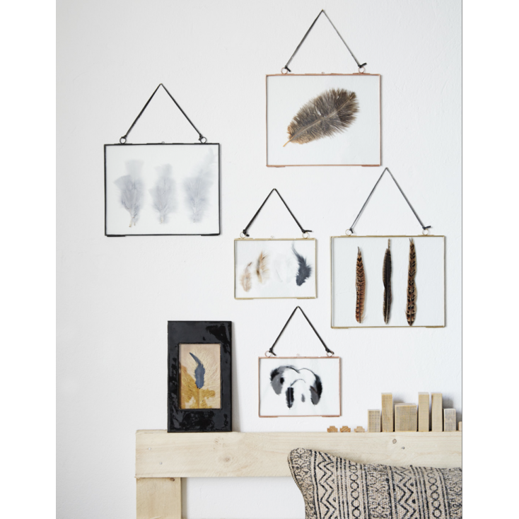 cadre verre m tal or horizontal l cadres verres pinterest cuivre cadres et verre. Black Bedroom Furniture Sets. Home Design Ideas