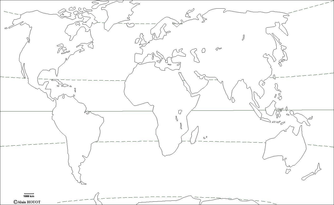 نتيجة بحث الصور عن Carte Vierge Planisphere A Imprimer Carte