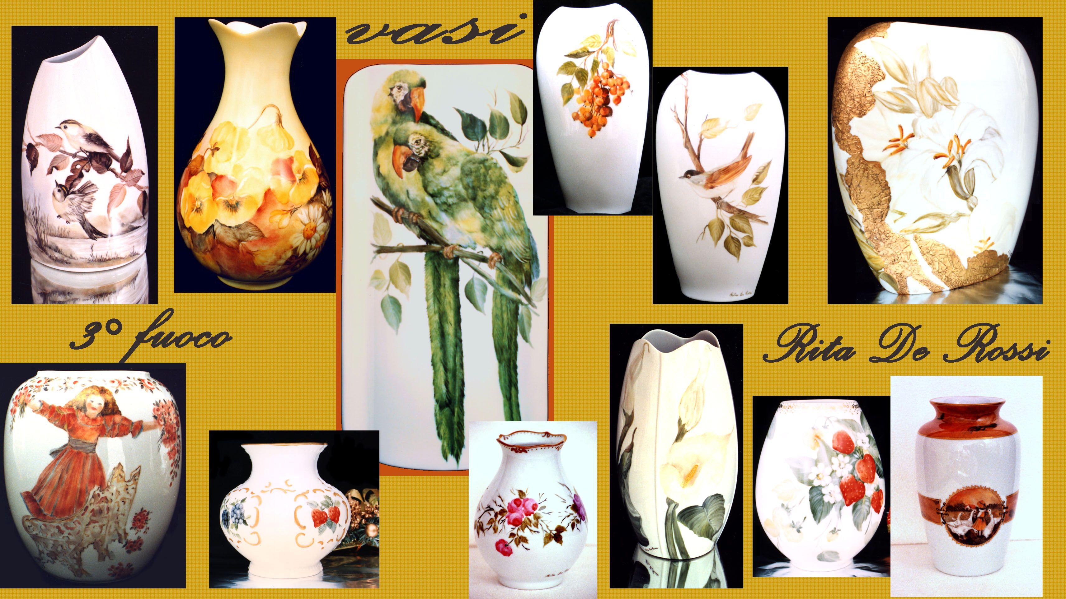 Porcellana e maiolica dipinta a mano tecnica 3 fuoco per for Sia complementi d arredo