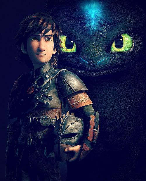 Toothless the Alpha and Hiccup the Chief