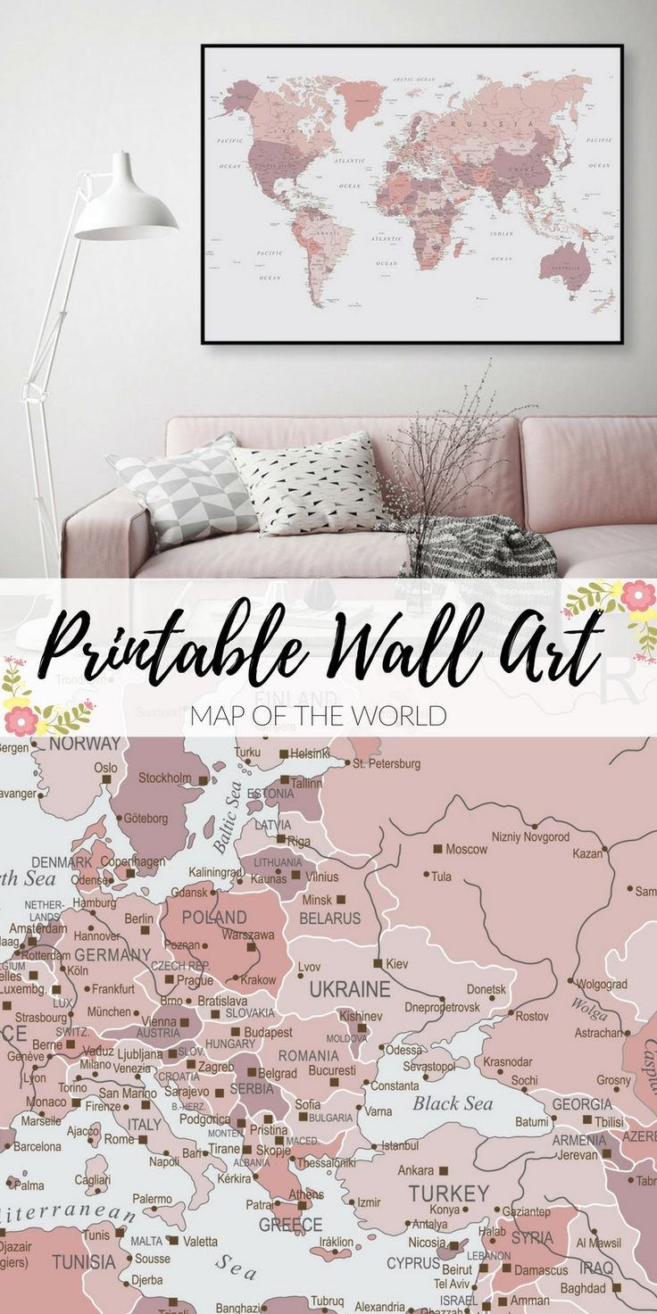 Printable art for only 6 downloadable map of world map world printable art for only 6 downloadable map of world map world map gumiabroncs Images