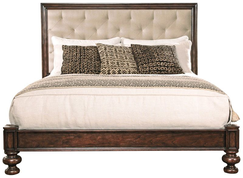Bernhardt Commonwealth Upholstered Panel Bed (King) (334-XH66/FR66