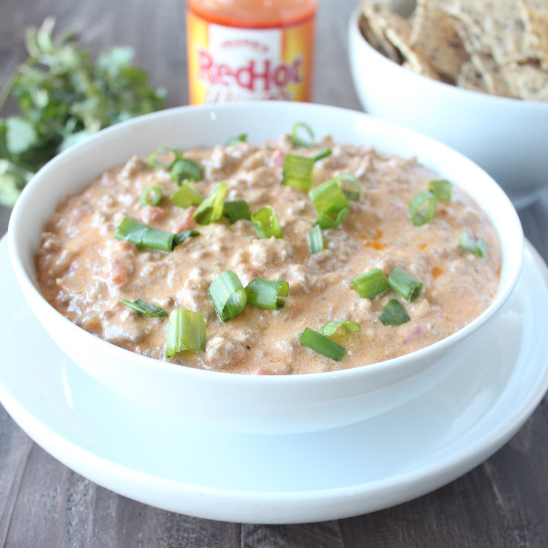 Buffalo Cheeseburger Dip @FoodBlogs