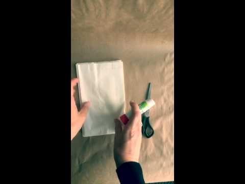 Weihnachtssterne aus Butterbrotpapier/ Tüten in 15 Sekunden