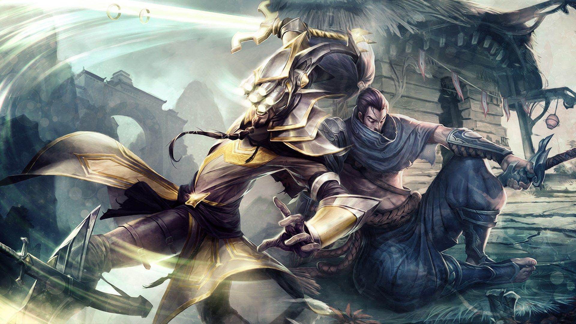 Master Yi Yasuo Lol Wallpaper Hd Free Download