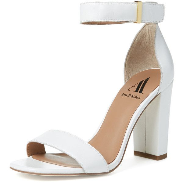 Ava & Aiden Poppy Two-Piece Chunky Heel Sandal ($59) ❤ liked on ...