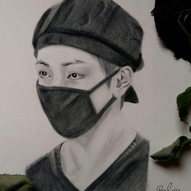 drawing drawing art drawings cartoon fan pop music artists k pop music quick sketch sketches fan art taehyung drawings dibujo drawing s