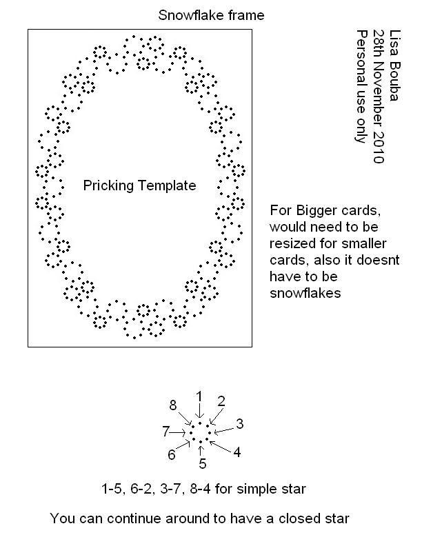 paper pricking templates - snowflake card fonalgrafika pinterest snowflake