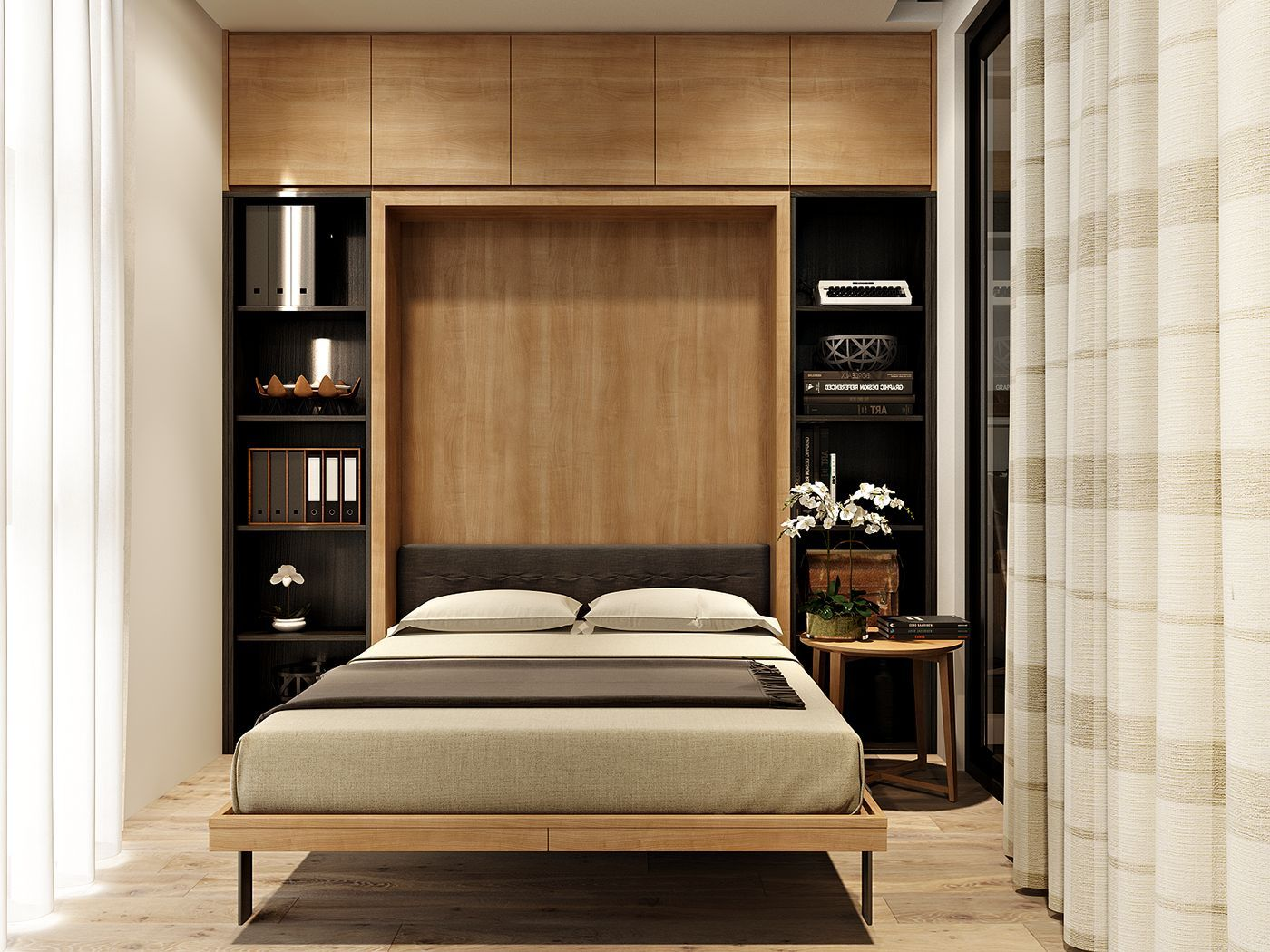 Sophisticated Small Bedroom Designs | Chambres, Lit escamotable et ...