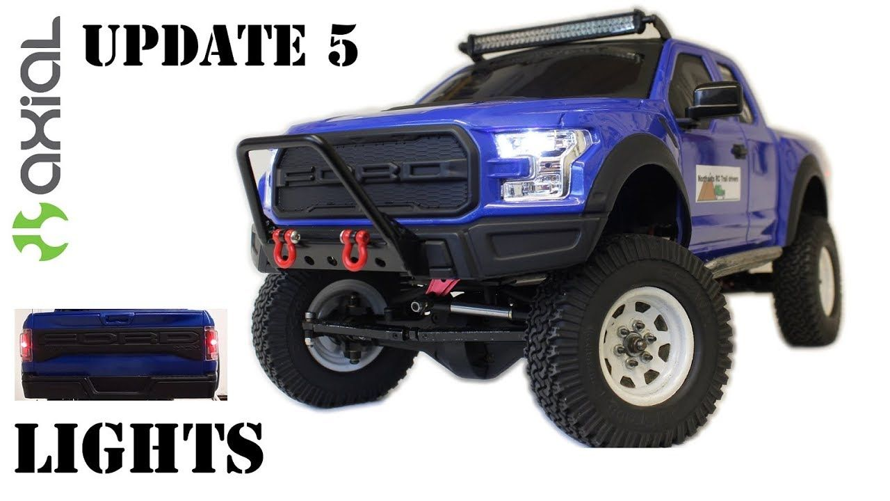 Axial Scx10 New Bright Rc Ford Raptor Update 5 Rc Scale 4x4 Lights Ford Raptor 4x4 Toy Car