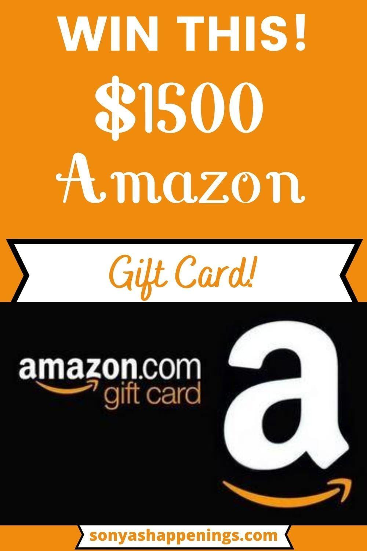 Win A 1500 Amazon Giftcard Gift Card Gift Card Generator Amazon Gift Card Free