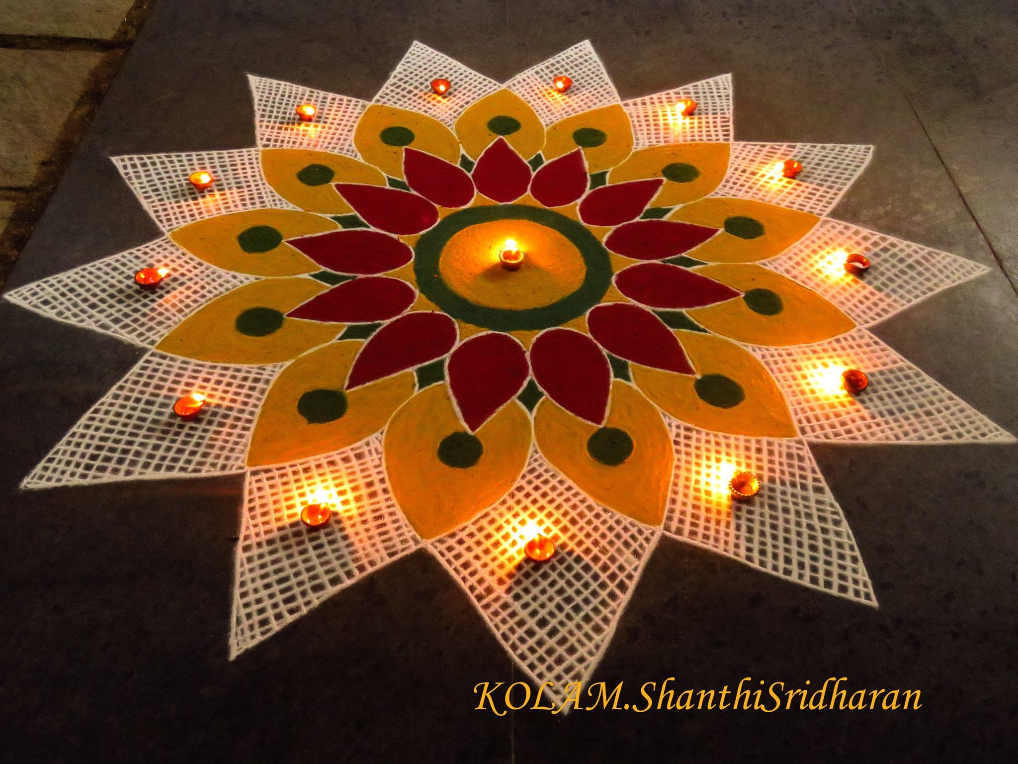 Pin by Shanthi Sridharan.KOLAM on Mandala | Pinterest | Rangoli ... for Flower Rangoli Designs For Diwali  35fsj