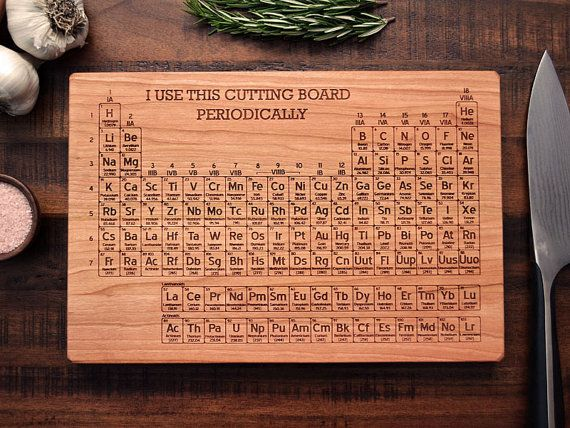 Simple and functional this periodic table emblazoned cutting board simple and functional this periodic table emblazoned cutting board brings an element of science urtaz Images