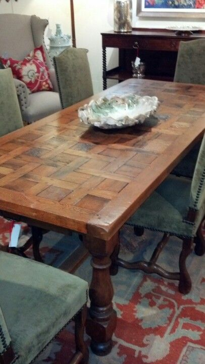 Parquet Table At Market Central Diy Dining Room Table Diy