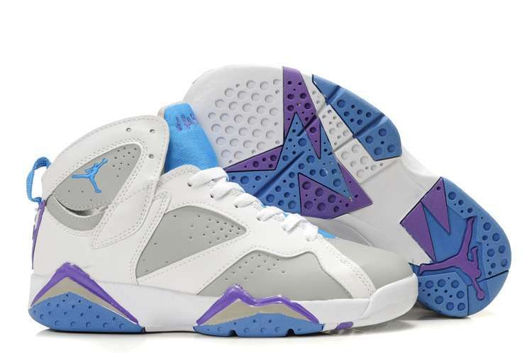 best loved 05998 a7212 women wearing jordan retro 14   Jordan Shoes Retro 7 (VII) Pearl - White Pacific  Blue Purple