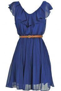 Pink Sleeveless Bead Belt Chiffon Sundress - Sheinside.com