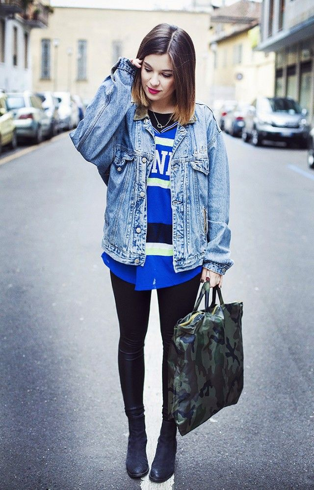 7 Ways to Style Your Denim Jacket This Spring | Sporty girls ...
