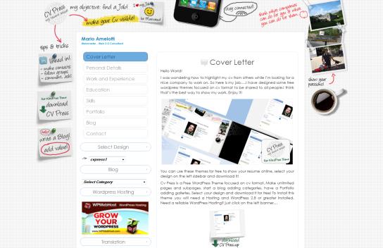 CV Press, 5 temas WordPress para mostrar tu Currículum | Diseño Web ...