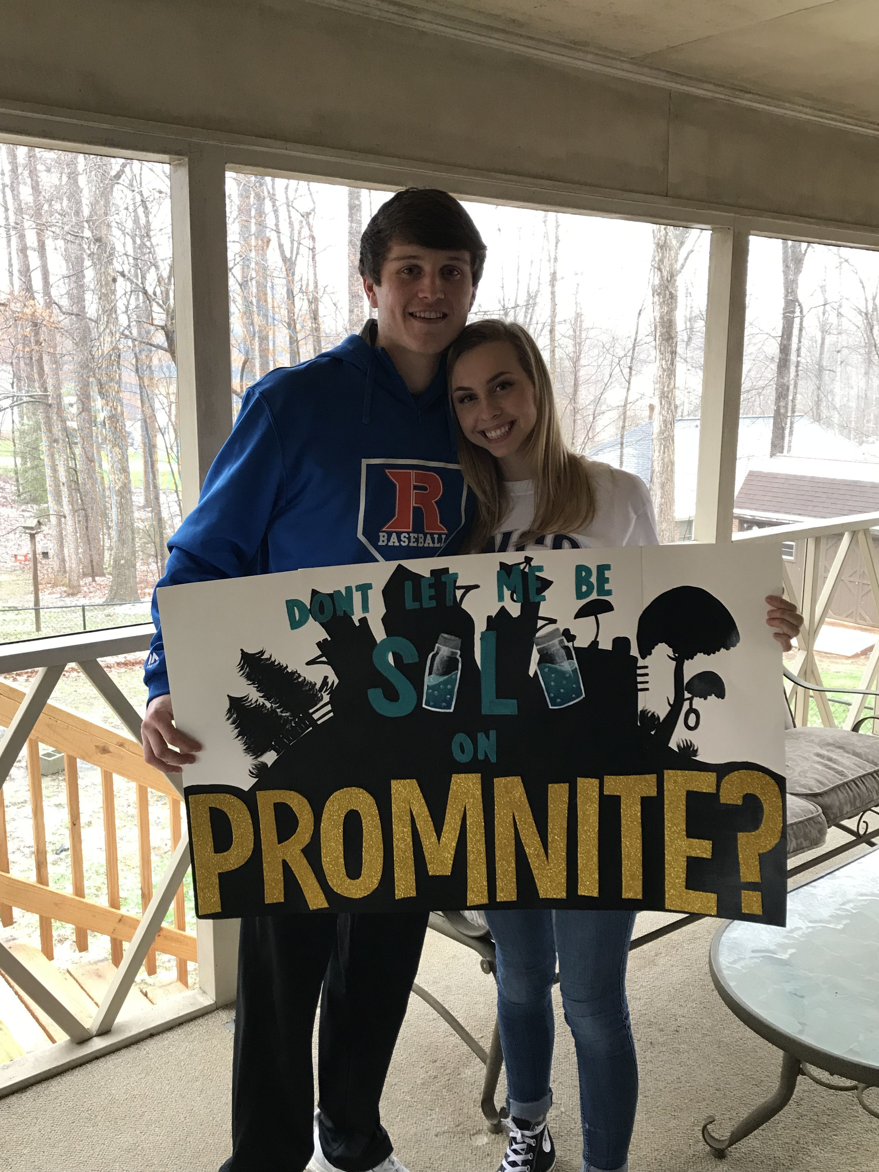 Fortnite themed promposal #fortnite #videogames #promposal #prom #bestfriendprompictures #promposalideas #hocoproposalsideasboyfriends