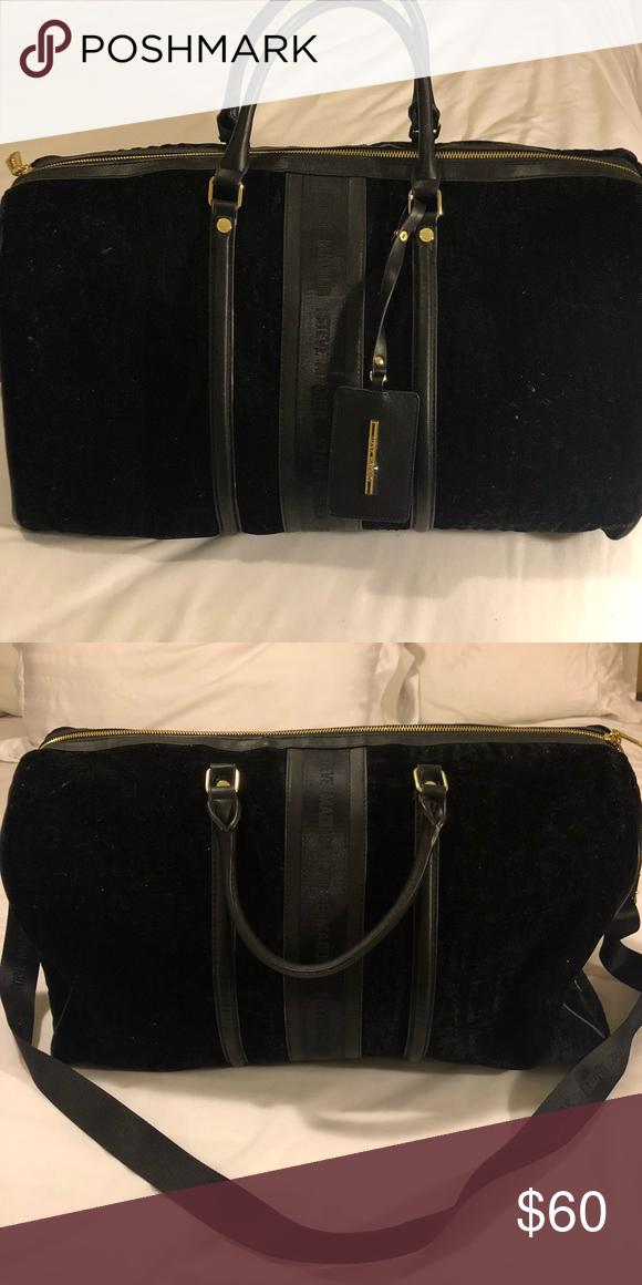 8399bc348f Steven Madden weekend bag! Never been used ! Black velvet with handle carry  or shoulder straps! Steve Madden Bags Travel Bags