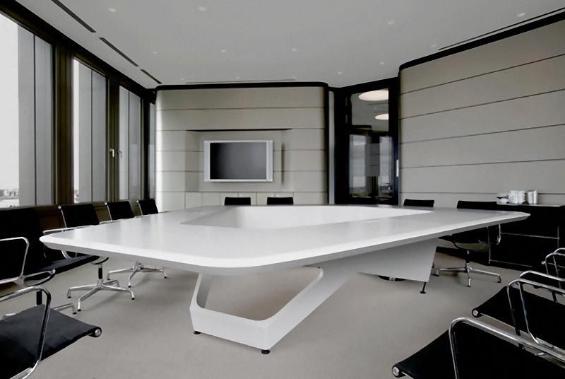 Futuristic Conference Table Design By Kinzo Modern Office Furniture Design Office Furniture Modern Modern Office Design