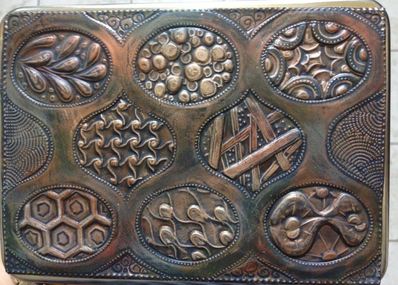 Embossing Tutorial On Copper Metal Art Techniques Metal