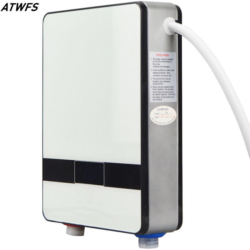 neue durchlauferhitzer 220 v 6500 watt induktionsheizung thermostat instant hei e dusche wasser. Black Bedroom Furniture Sets. Home Design Ideas