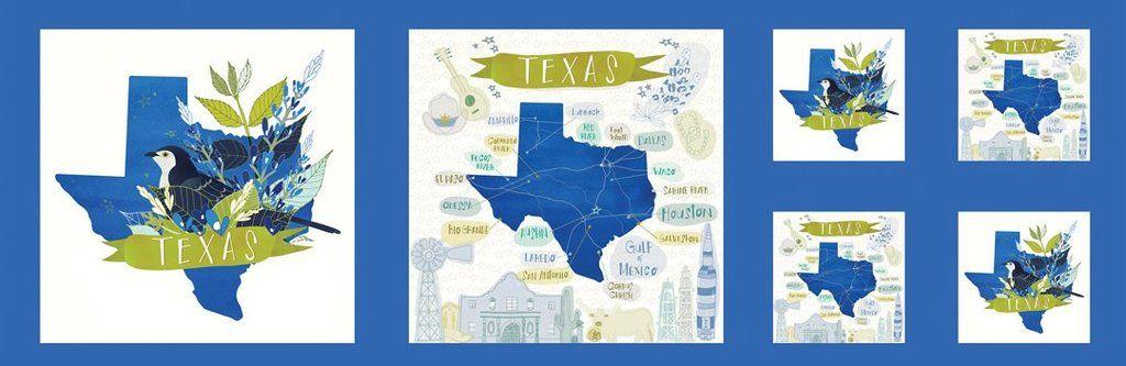 Desert Song Texas Bluebonnet Panel 13.5