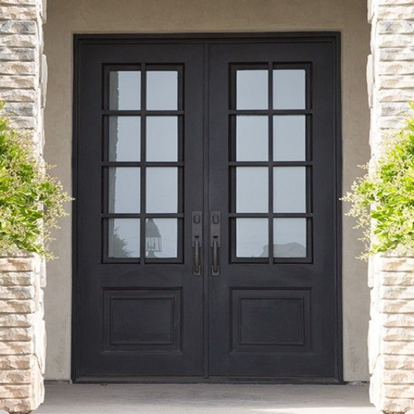 Craftsman Iron Door Double And Single