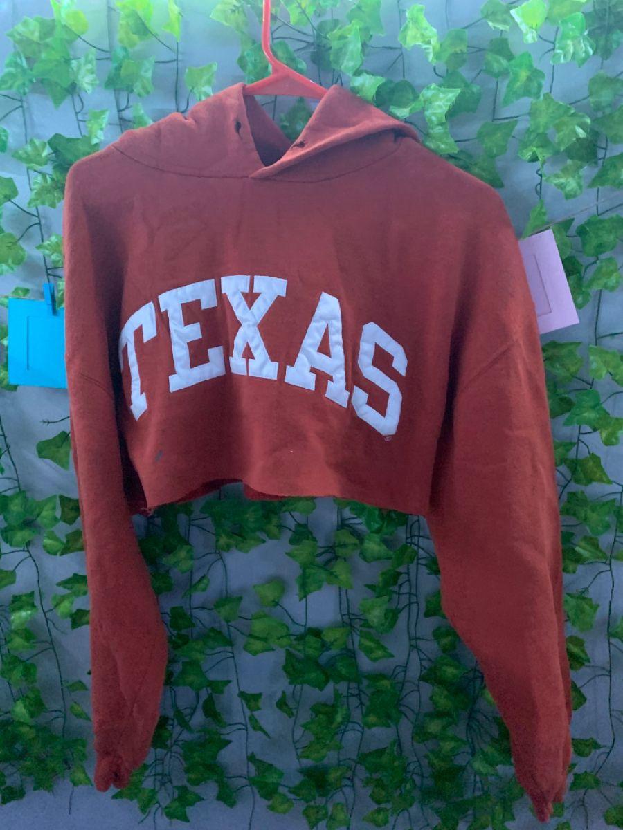 Super Cute Cropped Texas State Hoodie State Hoodie Navy Blue Paint Hoodies [ 1200 x 900 Pixel ]