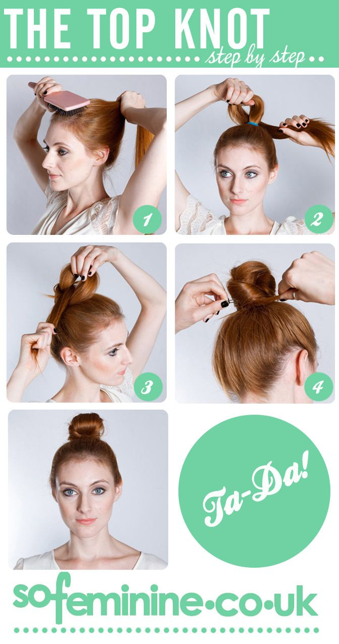 how to do a top knot without sock bun hairstyle! so handy