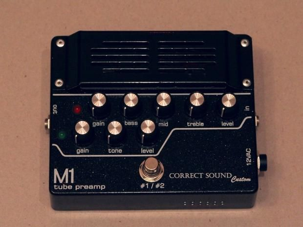M1 tube preamp is designed and built on two ECC83 S (12ax7