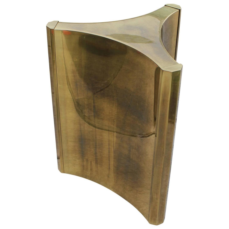Luxe Mastercraft Brass Pedestal Table Base