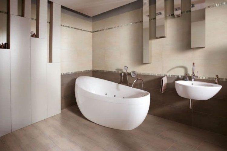 carrelage mural salle de bains 87 id es l gantes carrelage - Faience Salle De Bain Chocolat Beige